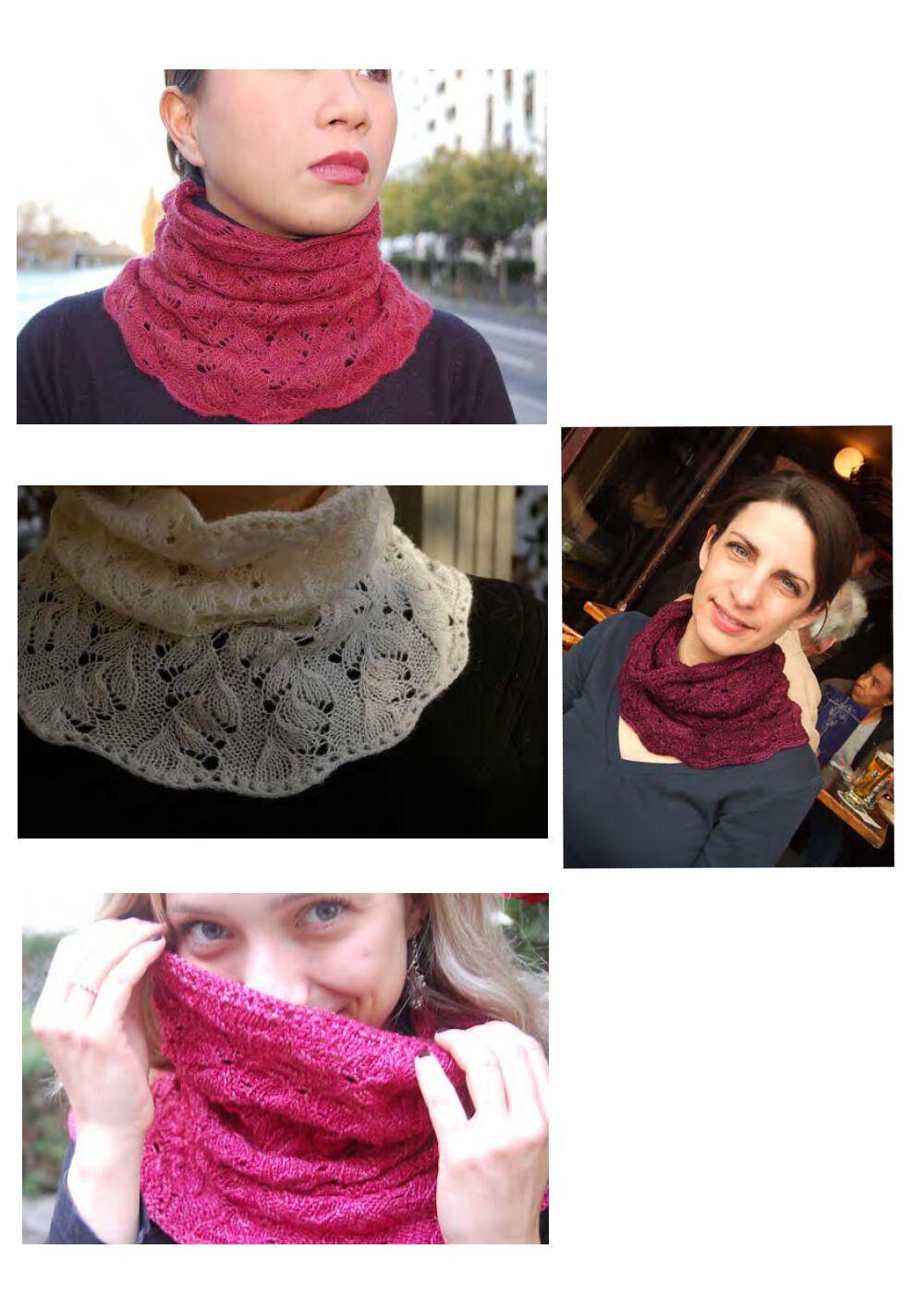 Как связать женский шарф снуд спицами для начинающих 66