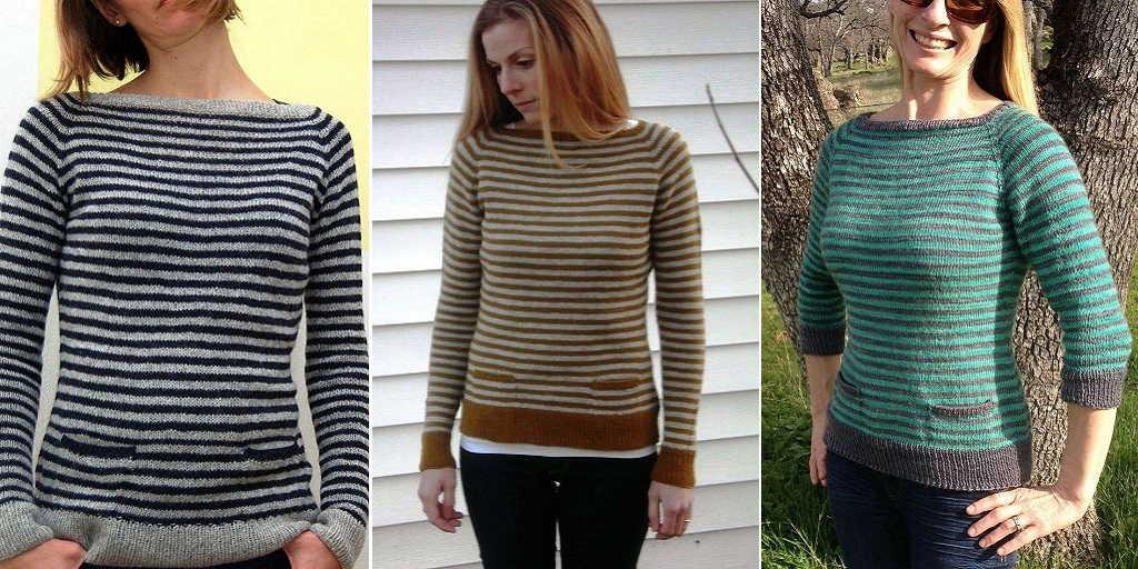 Как связать свитер женский платочной вязкой 79