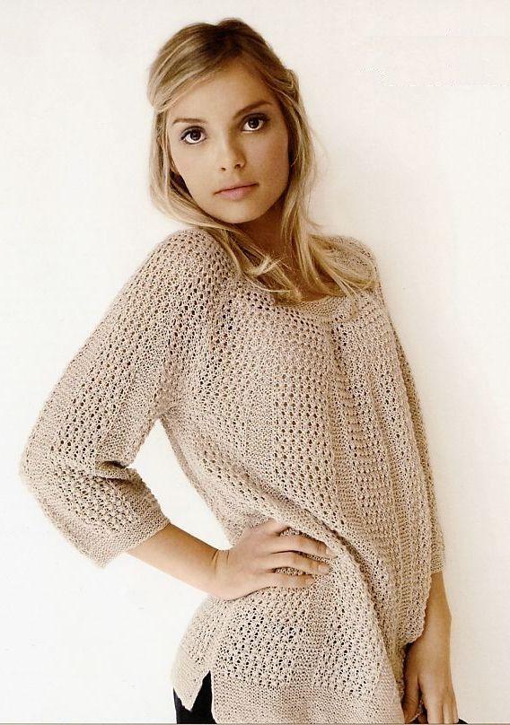 вязание пуловера Granite Helga Isager вяжиру