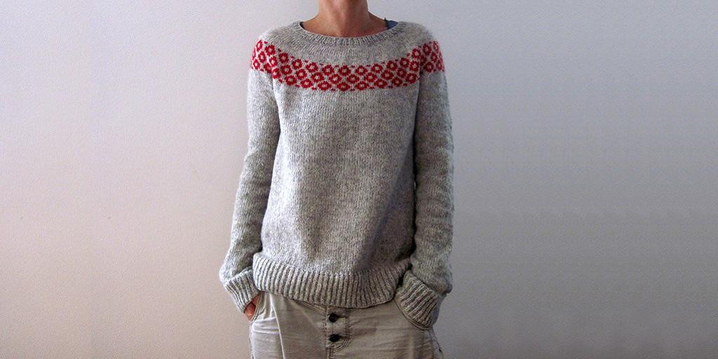 Пуловер С Жаккардовой Кокеткой Доставка