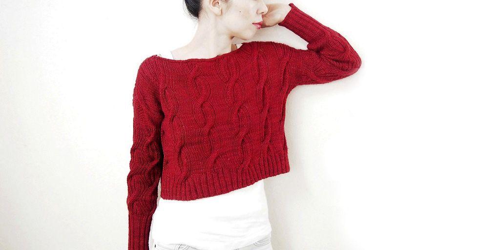 Вязание оригинального свитера спицами 672