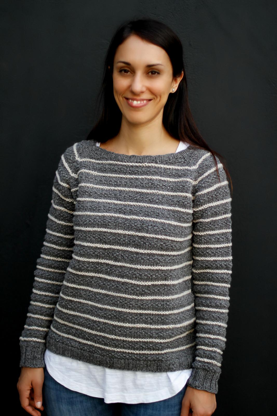 Вязание спицами полосатый джемпер