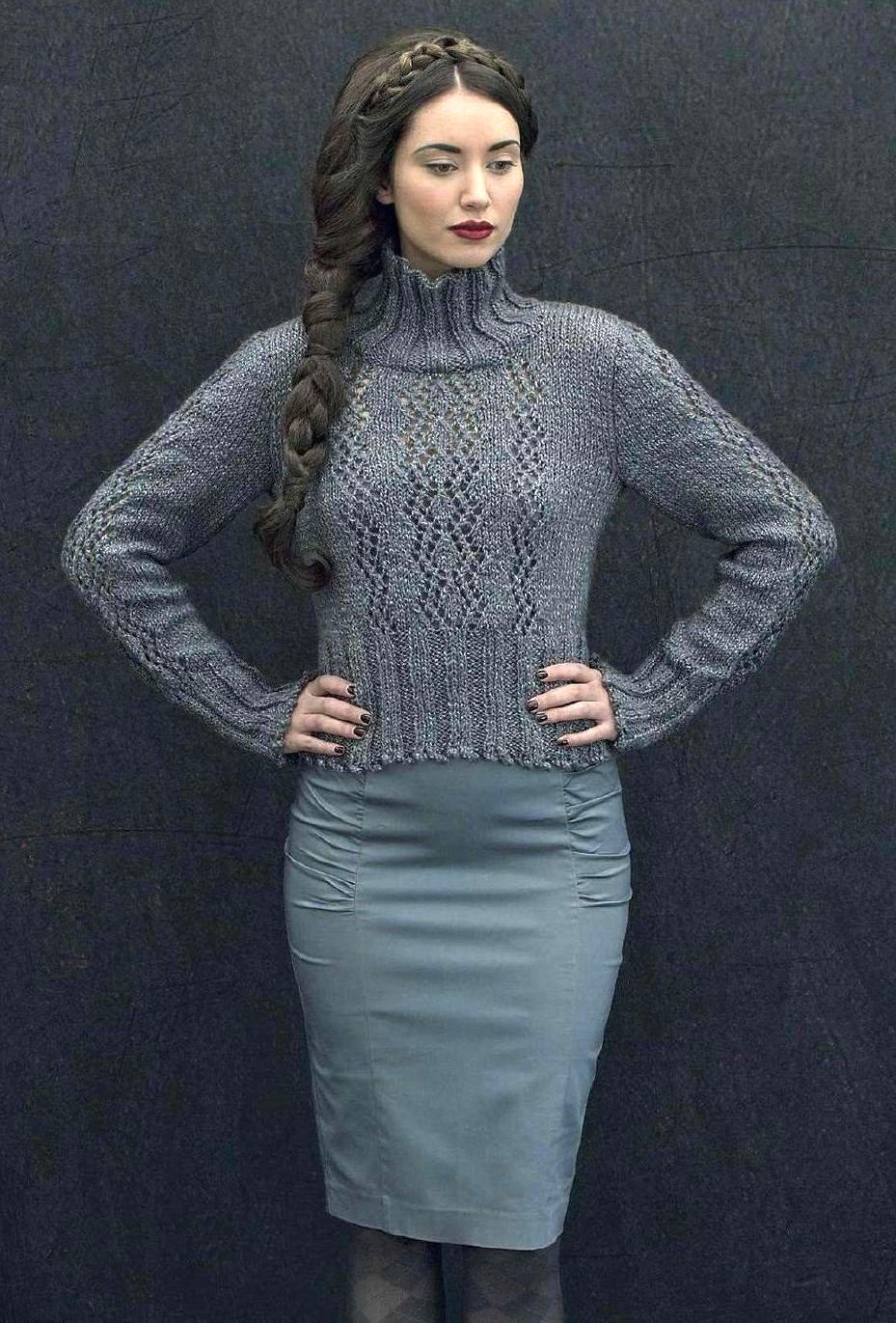 вязание спицами для женщин пуловера Falaise вяжиру