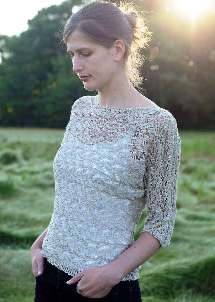 Женские свитера с узорами и описаниями вязание