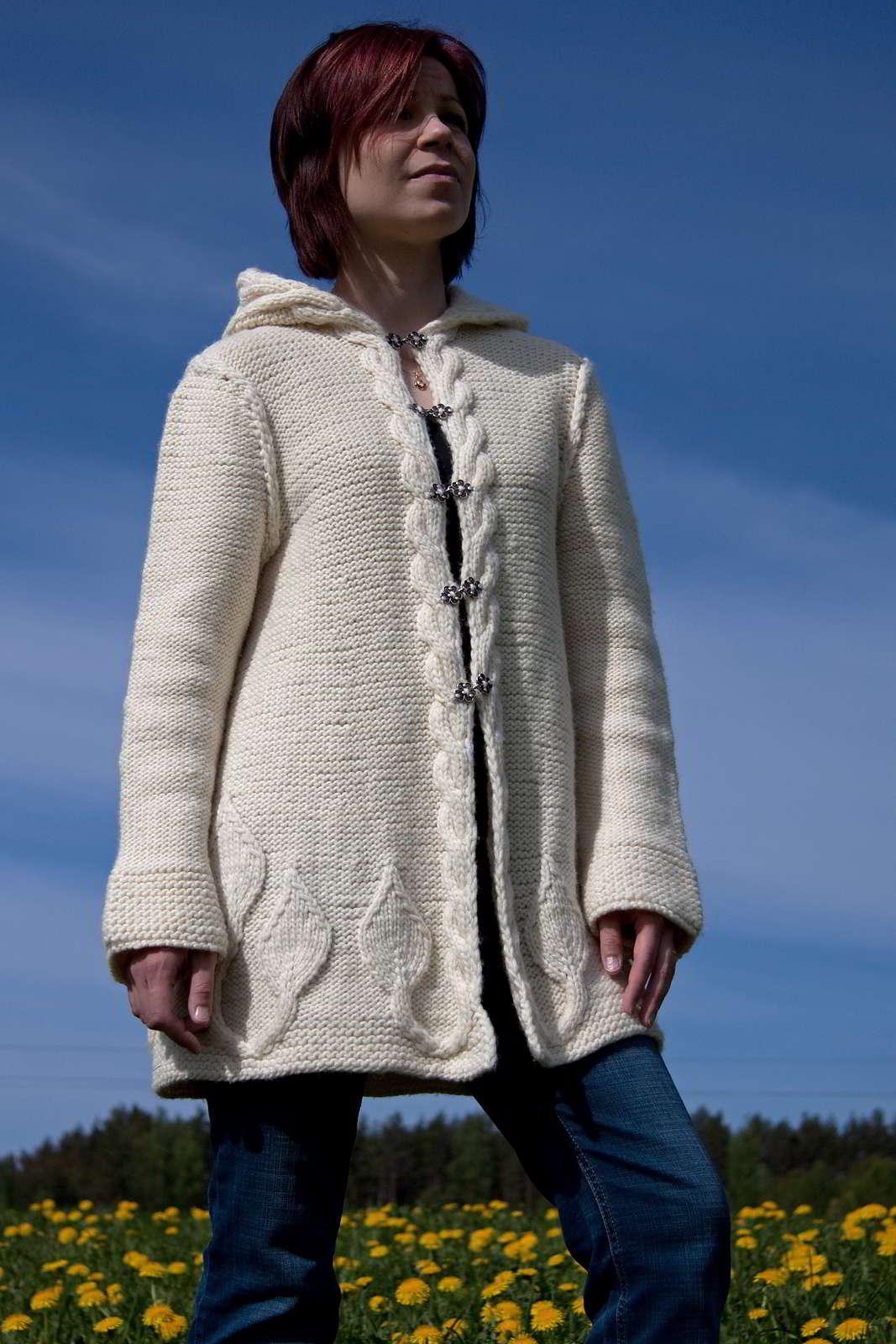 Кардиган свободного кроя - Baggy sweater - Modnoe Vyazanie m 30