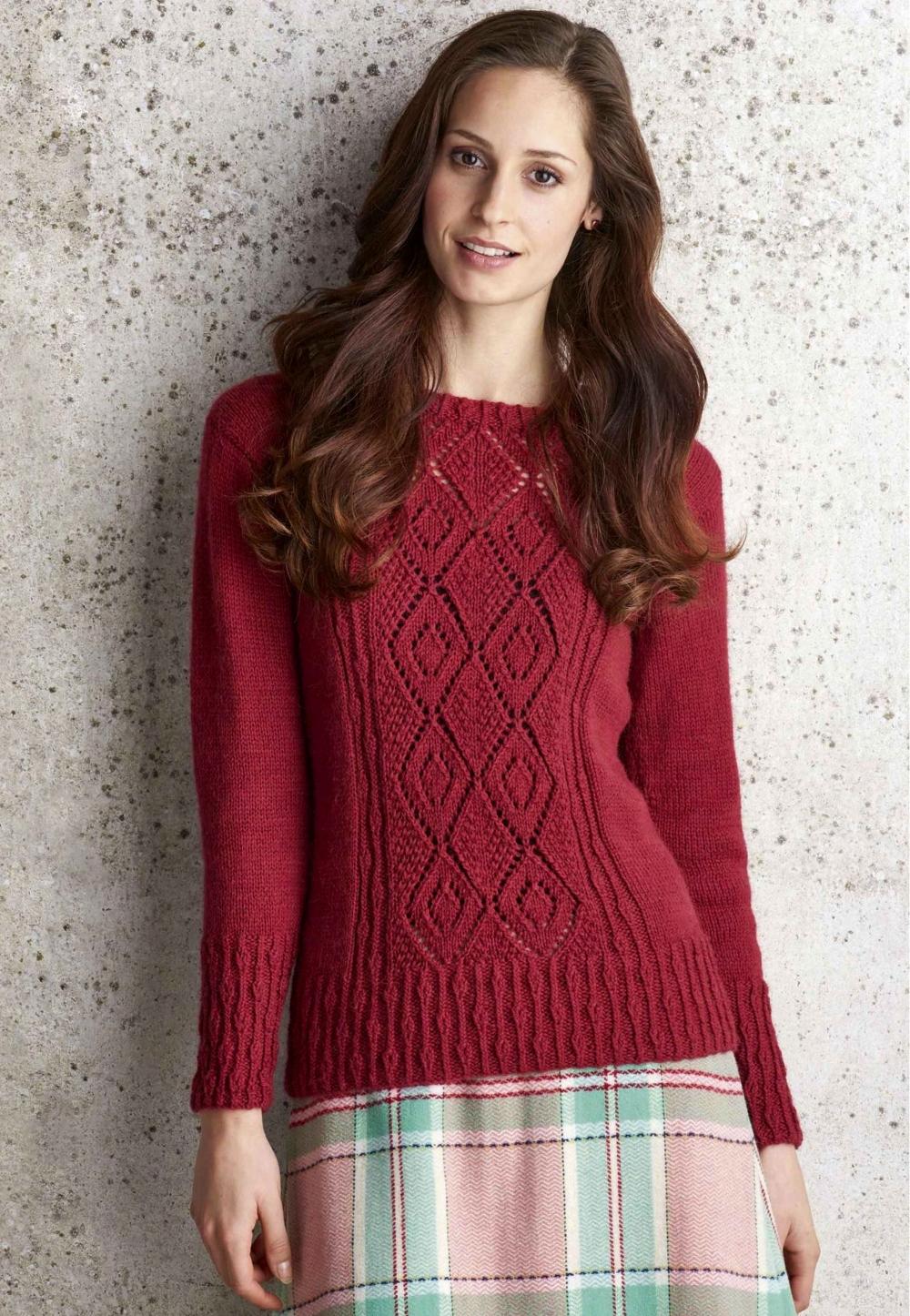 37cd88905c74 Пуловер женский Charlecote с центральным узором - Вяжи.ру
