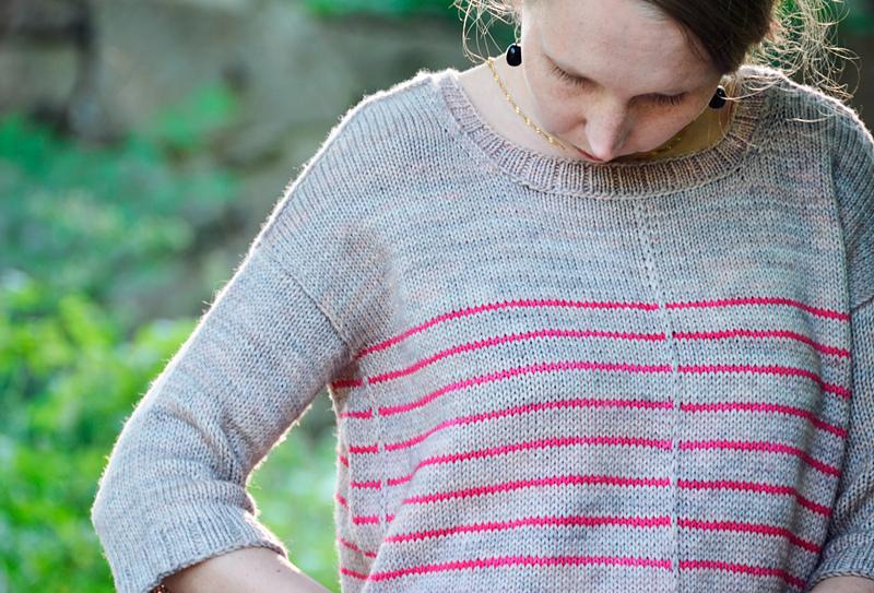 свитер спицами без проймы