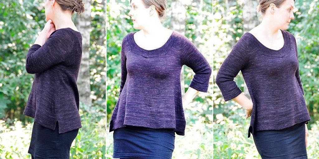 пуловер необыкновенный реглан схема