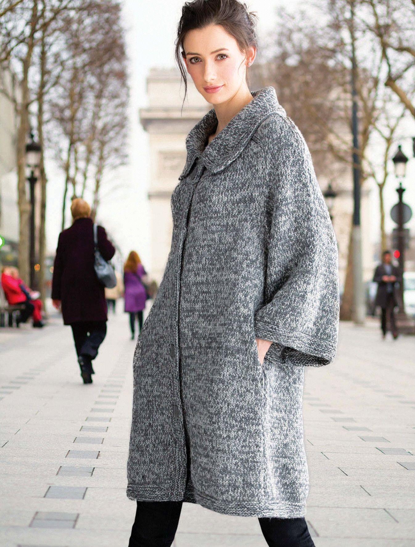 вязаное пальто Cocoon вяжиру