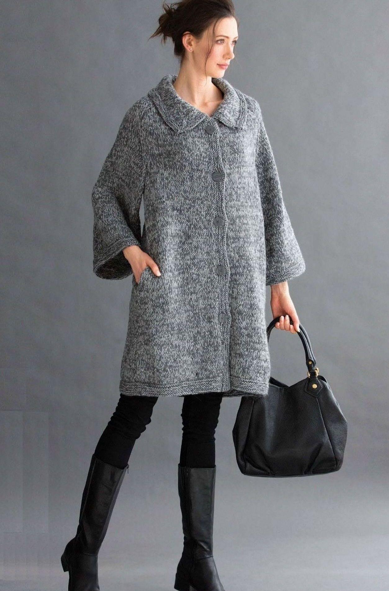Вязаное пальто Cocoon - Вяжи.ру