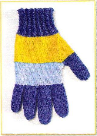 вязание перчаток спицами от кончиков пальцев вяжиру