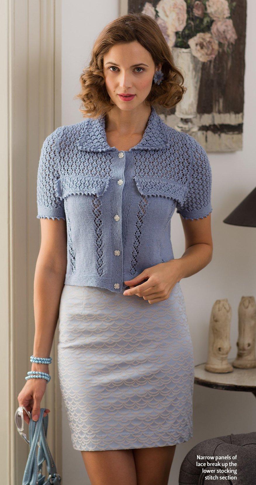 вязание кофточки спицами Rue De Rivoli The Knitter 57 вяжиру
