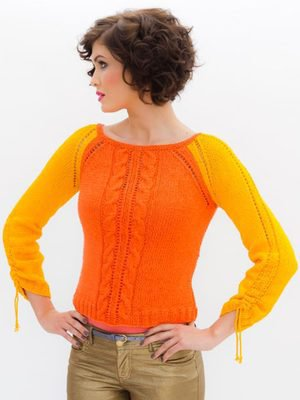 Двухцветный Пуловер Женский