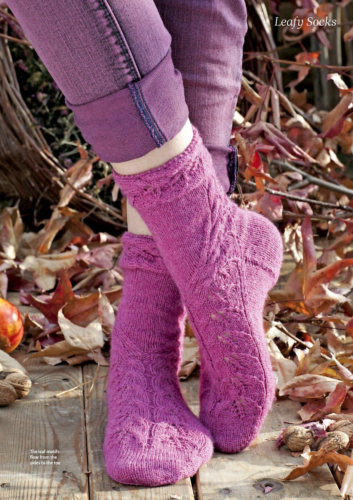 Вязание носков для подростков