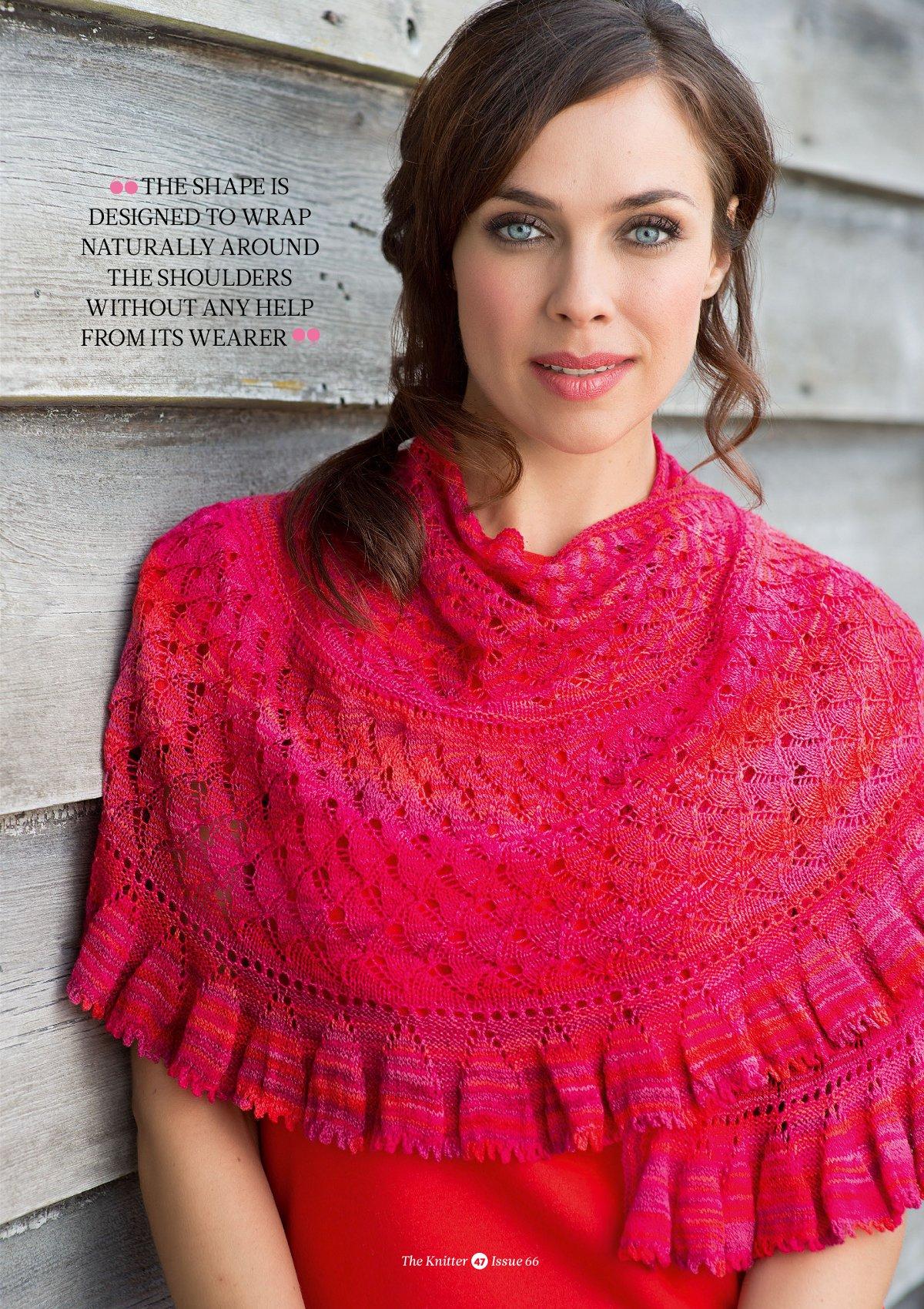 Вязание полукруглых шалей