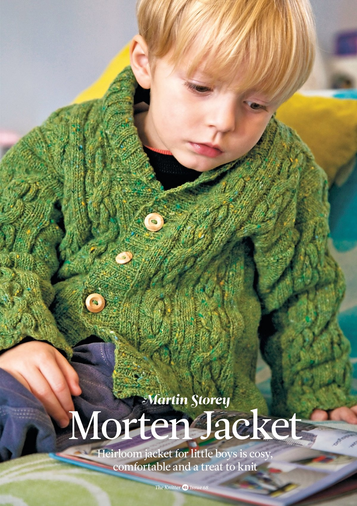 Вязание для мальчиков кардигана Jay, The Rowan Story Book of Little Knits