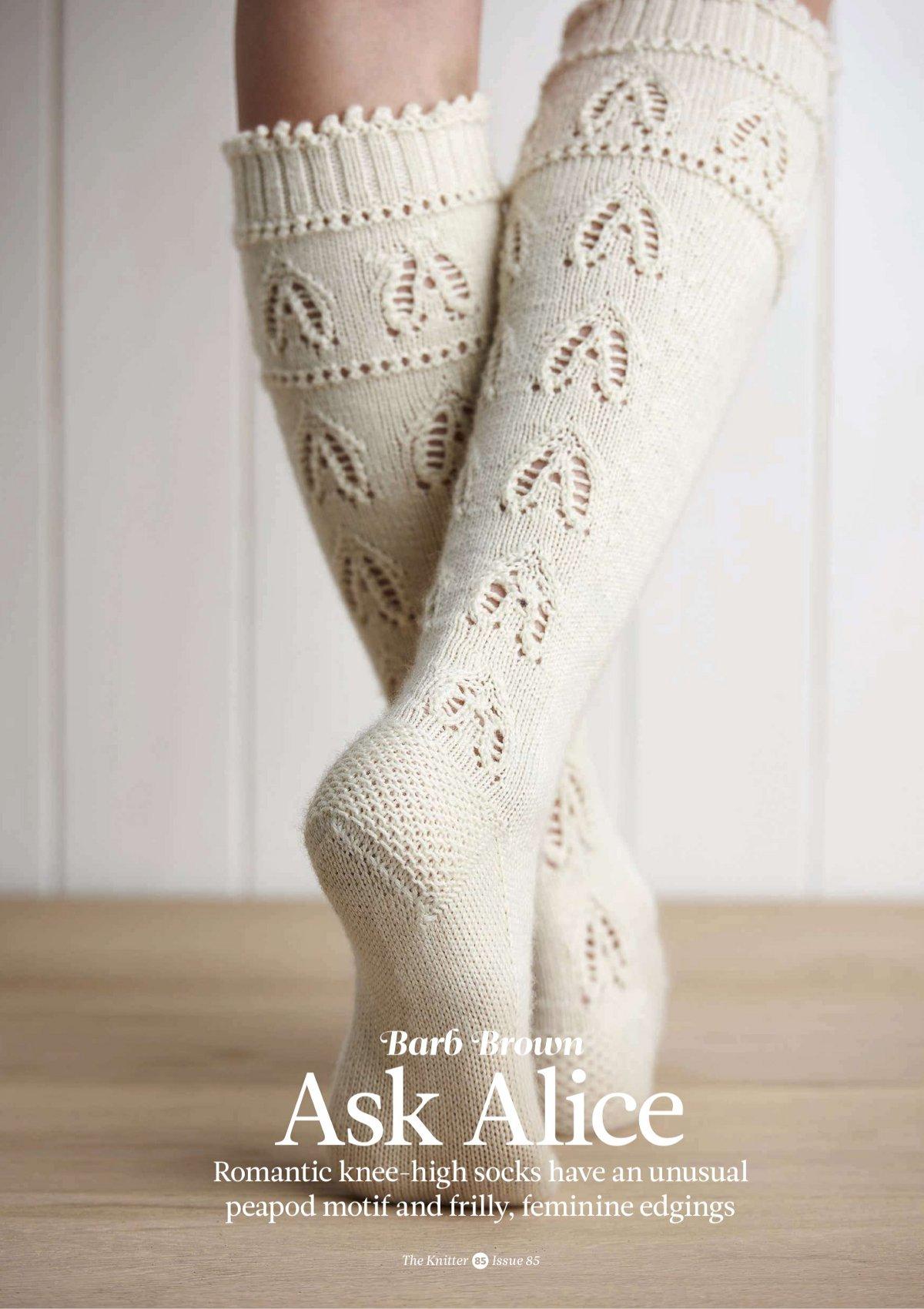 схема вязания необычных носков