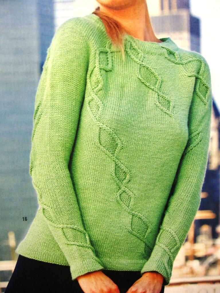 Зеленый свитер связать