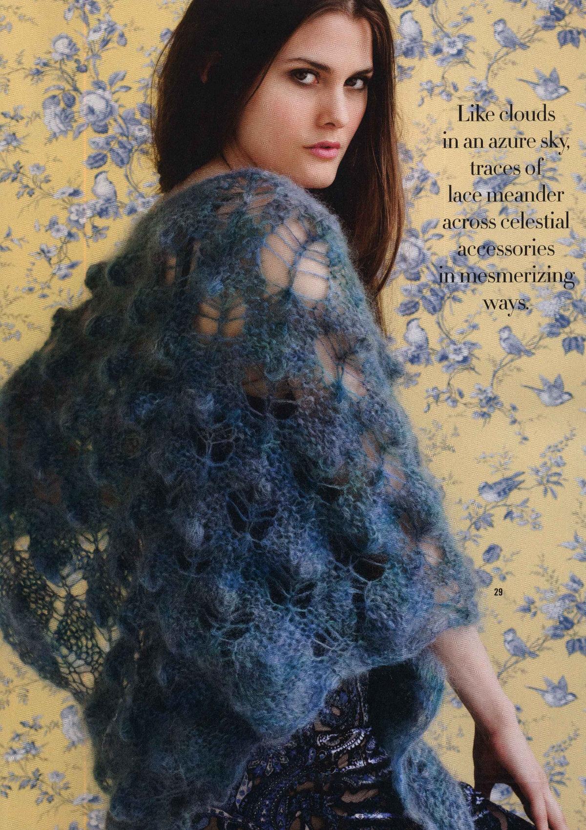 подробная схема вязания джемпер журнал мод