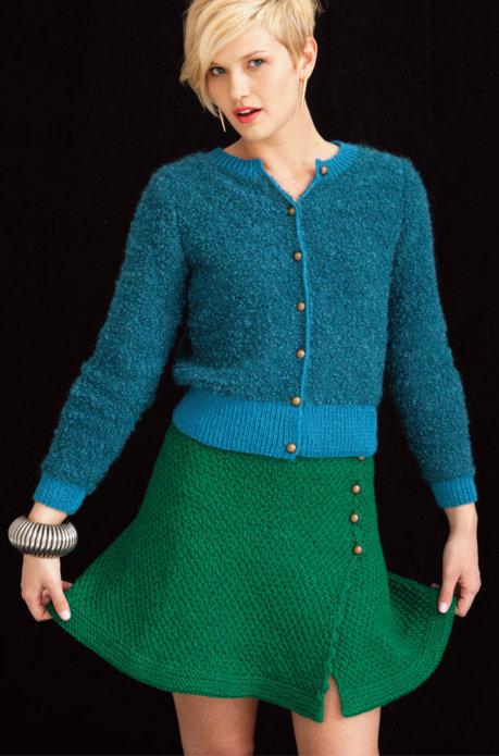 Вязание юбки с запАхом