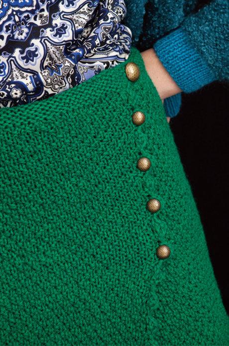 Вязание юбки, модель 21