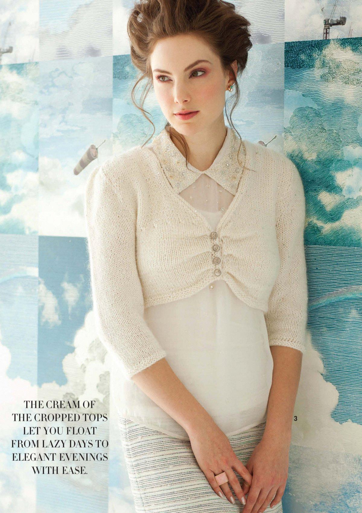 вязание болеро Ruched Bodice дизайн 3 Vogue Early Fall 2013 вяжиру