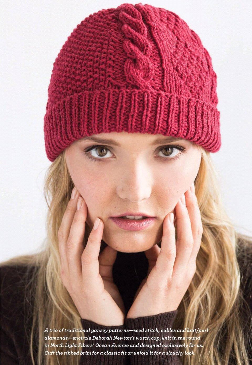 Вязание на спицах шапка женская