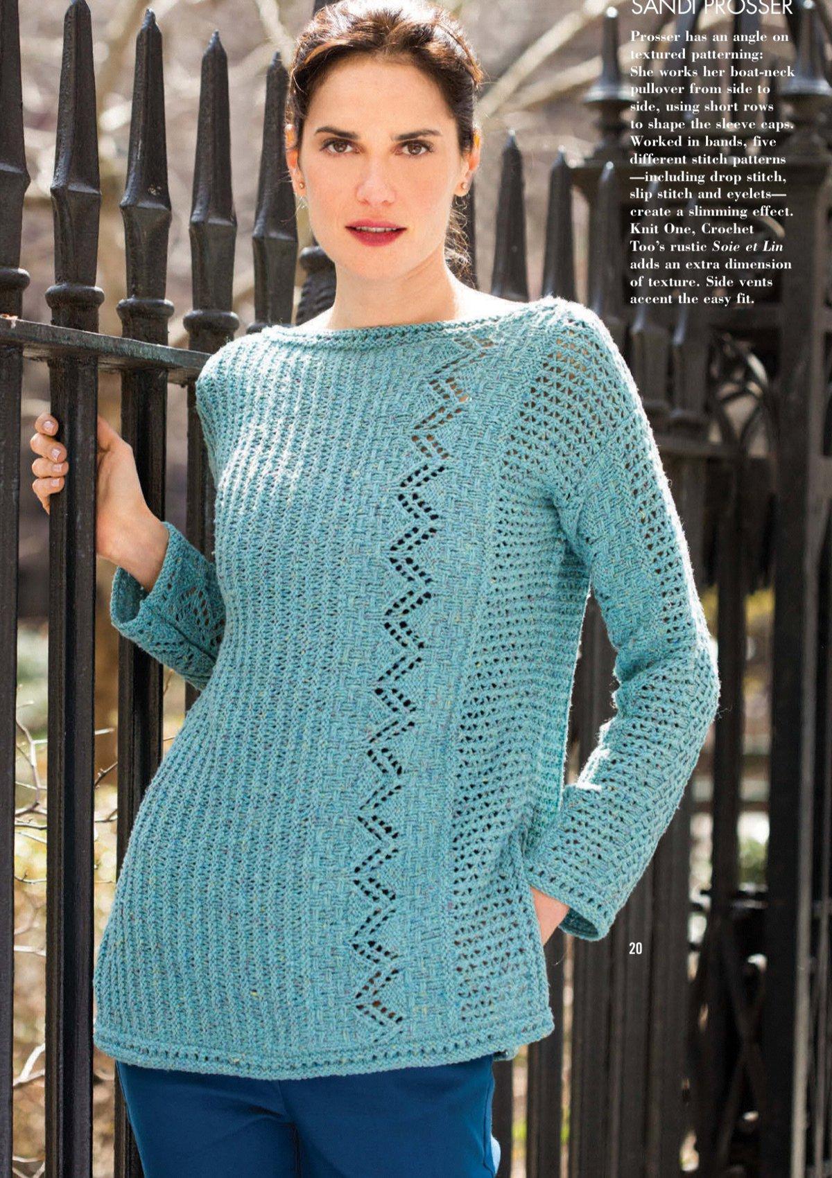 схема вязания воротника свитера спицами