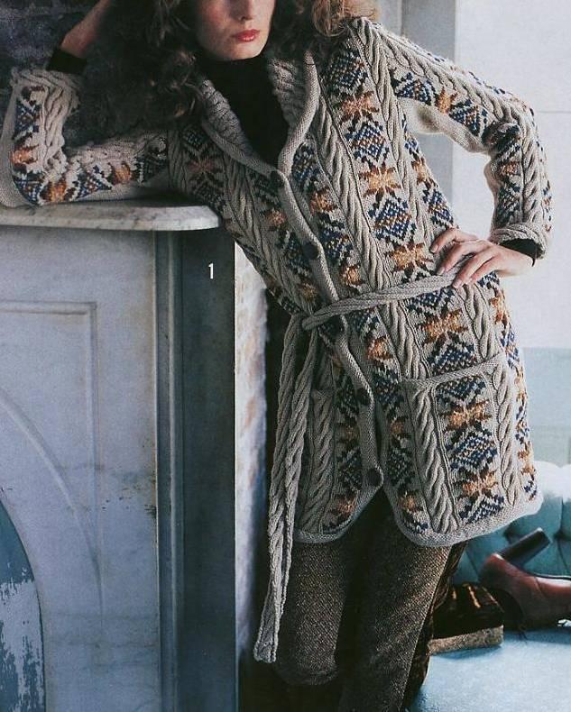Шарф спицами. Более 50 схем вязание шарфа спицами 19