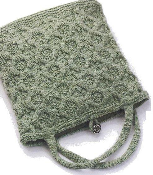 Вязание сумки Cabled tote
