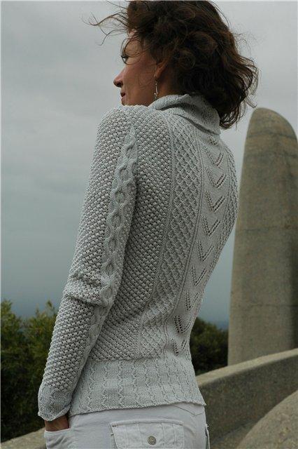 женский пуловер с косами с доставкой
