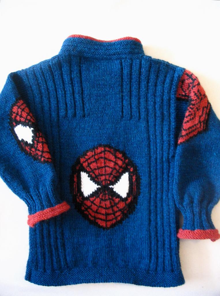 Кардиган Человек паук Вязание