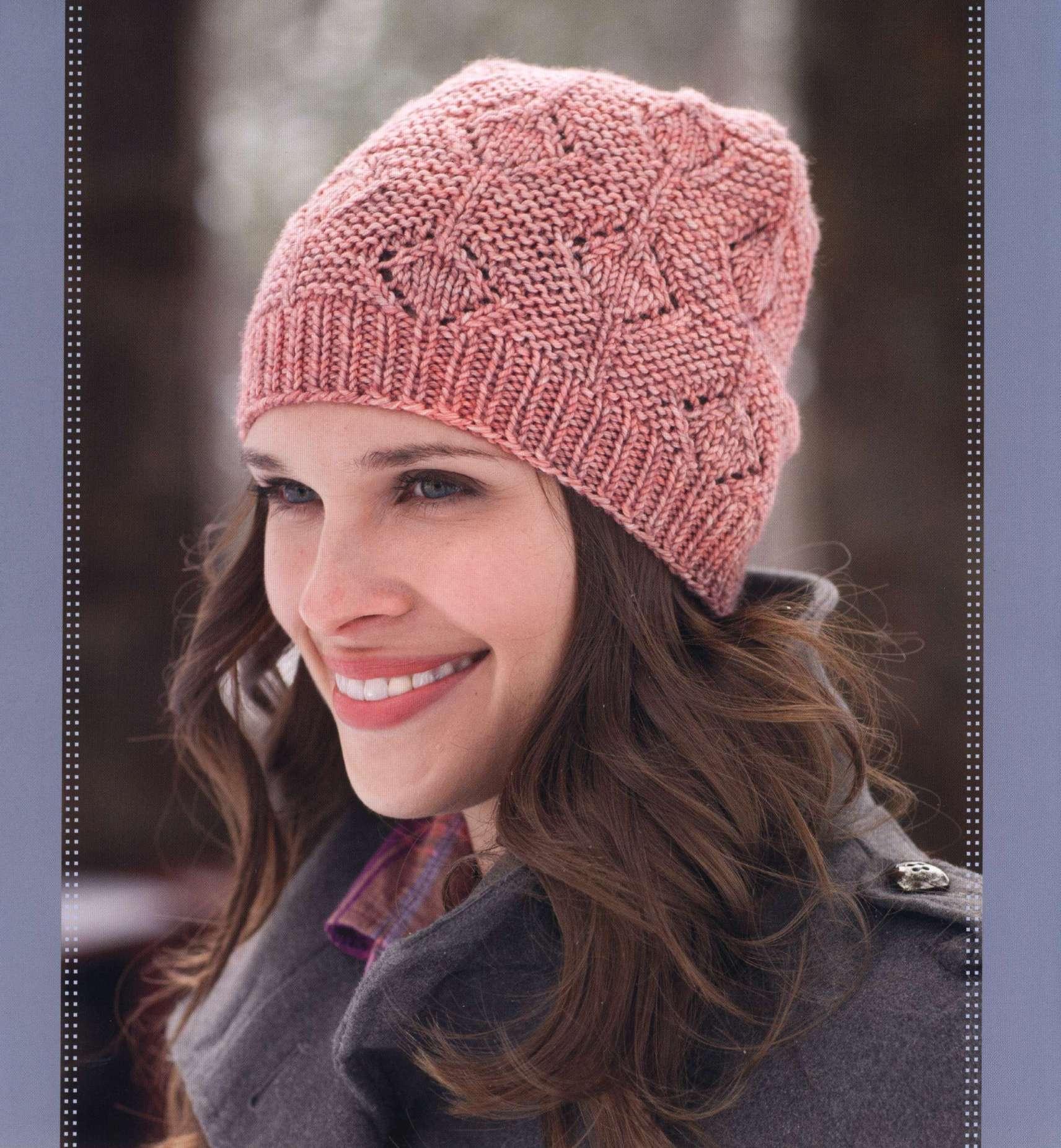 вязанные шапки спицы женские схемы
