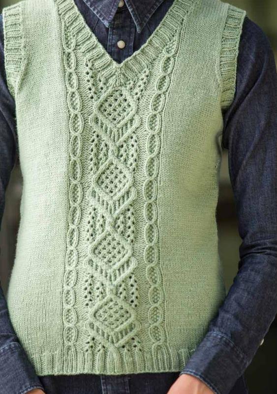 вязание спицами для женщин длинную безрукавку