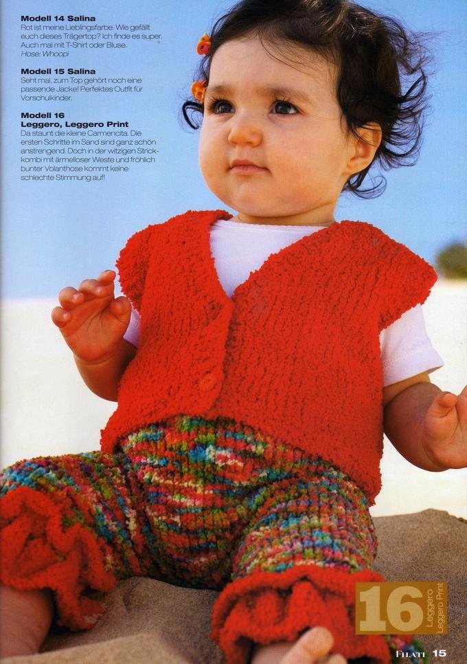 Ажурная манишка вязание