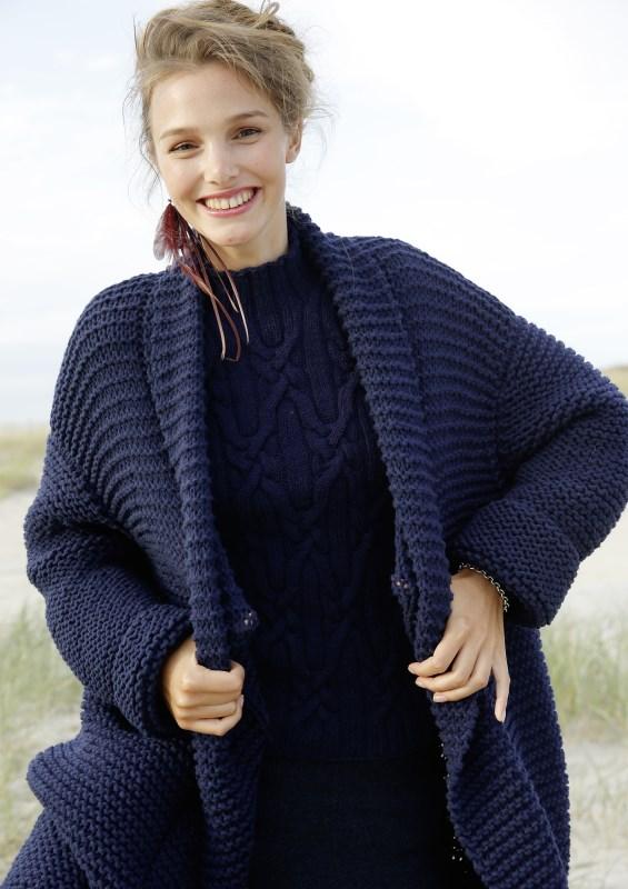Как связать свитер женский платочной вязкой 5