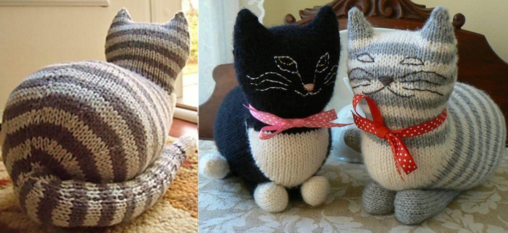 схема вязания игрушки кота спицами