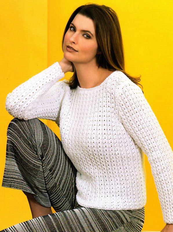 Домоседка вязание спицами женщинам пуловер