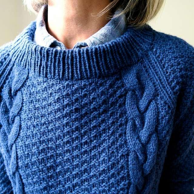 Пуловер С Косами Доставка