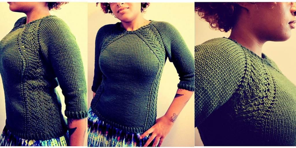 Пуловер Реглан