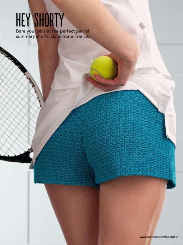 Вязание шорт крючком TENNIS