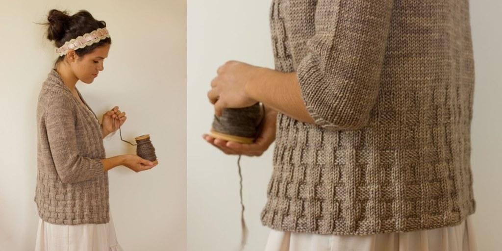 Как связать горловину свитера на пуговицах