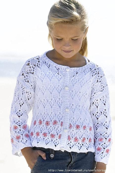 Вязание для девочек кардигана