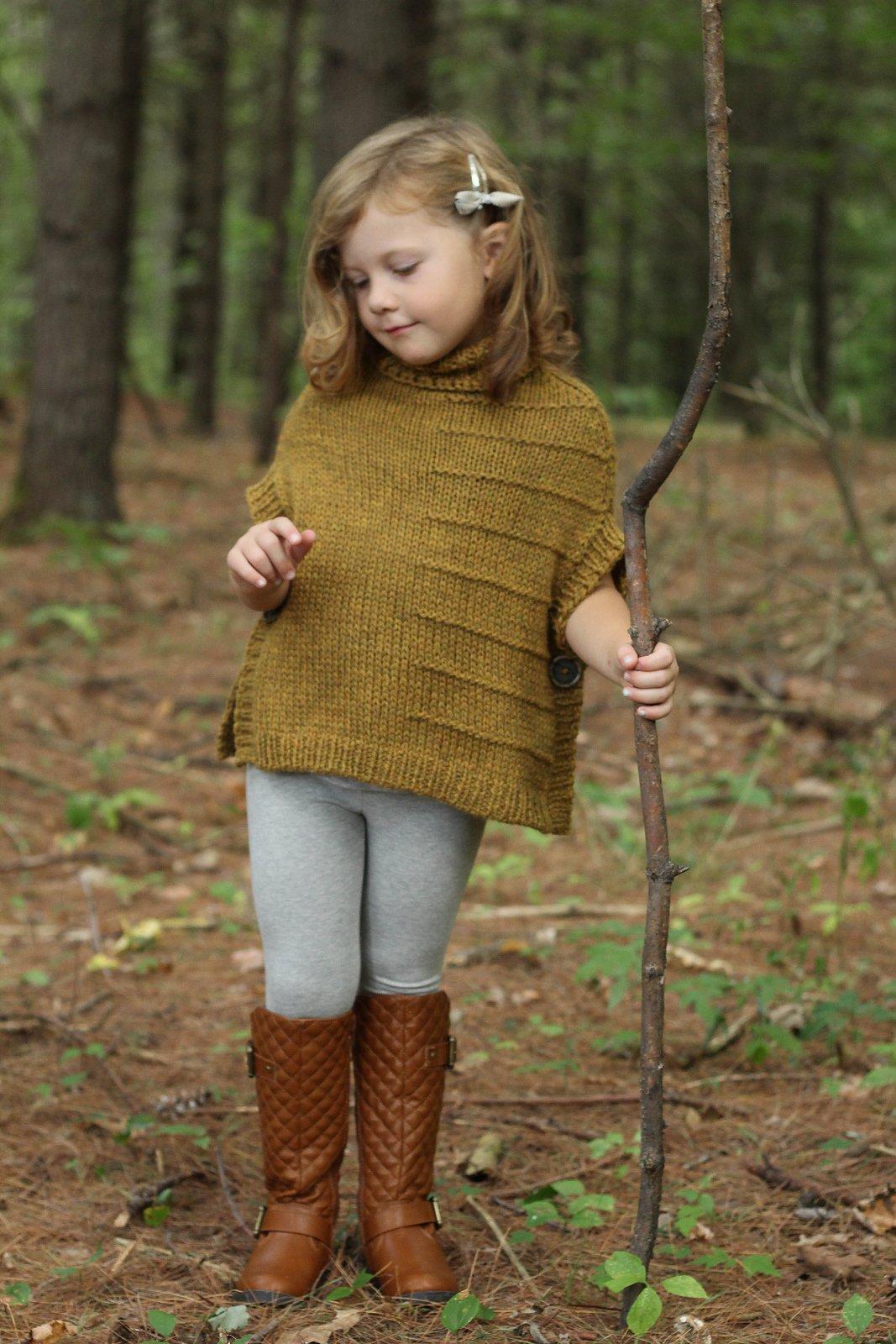 Вязание свитер пончо для девочек