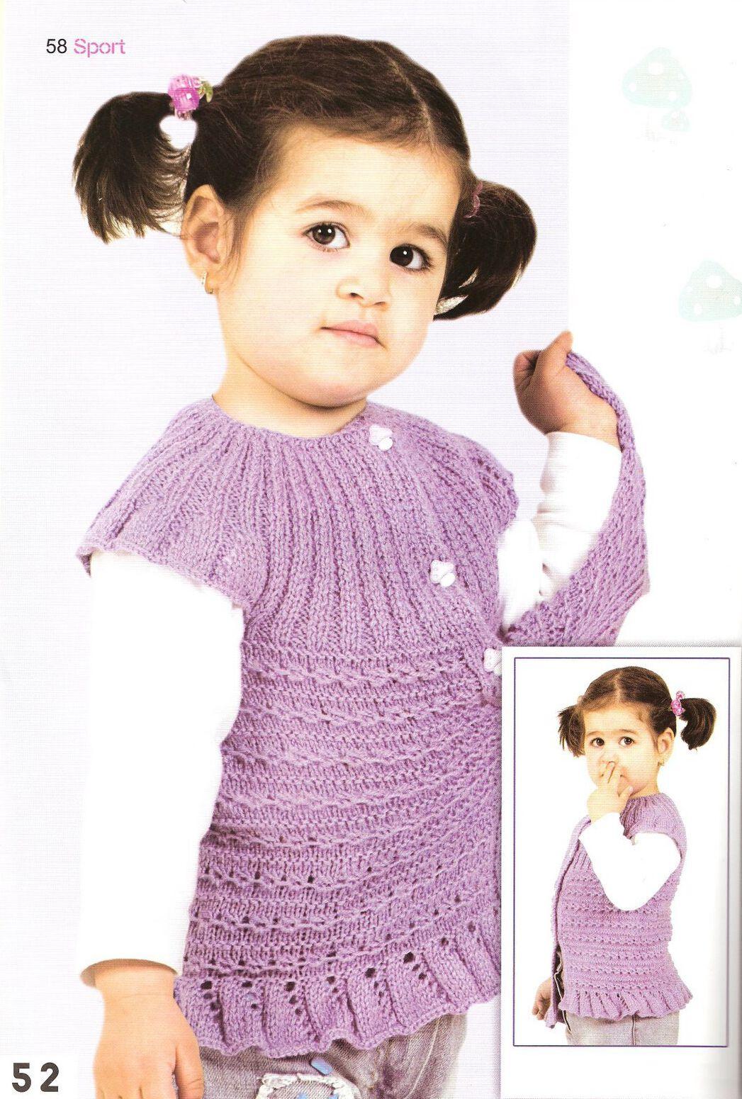 Детский жилет спицами и крючком для девочки: схема, выкройка, описание 88