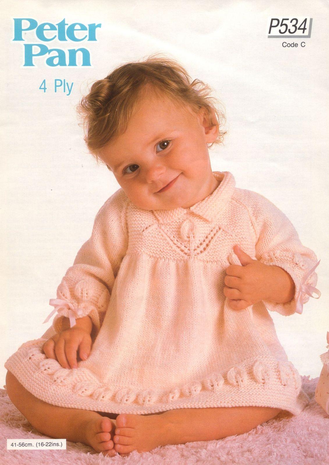 Вязание платья для малышки до года