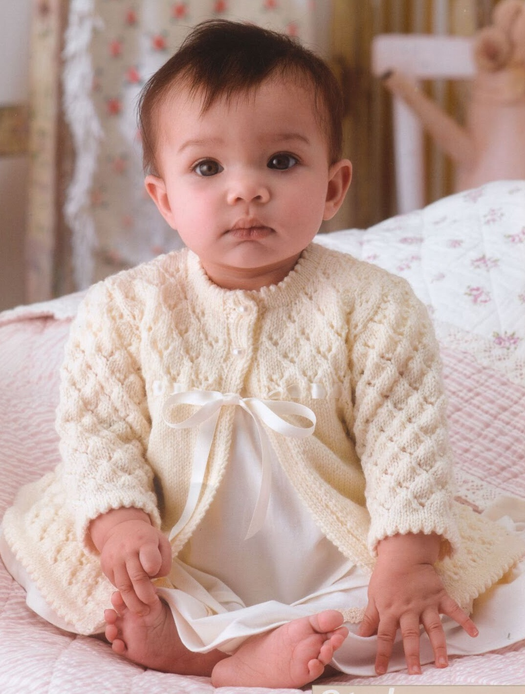 Вязание кофточки на малышей