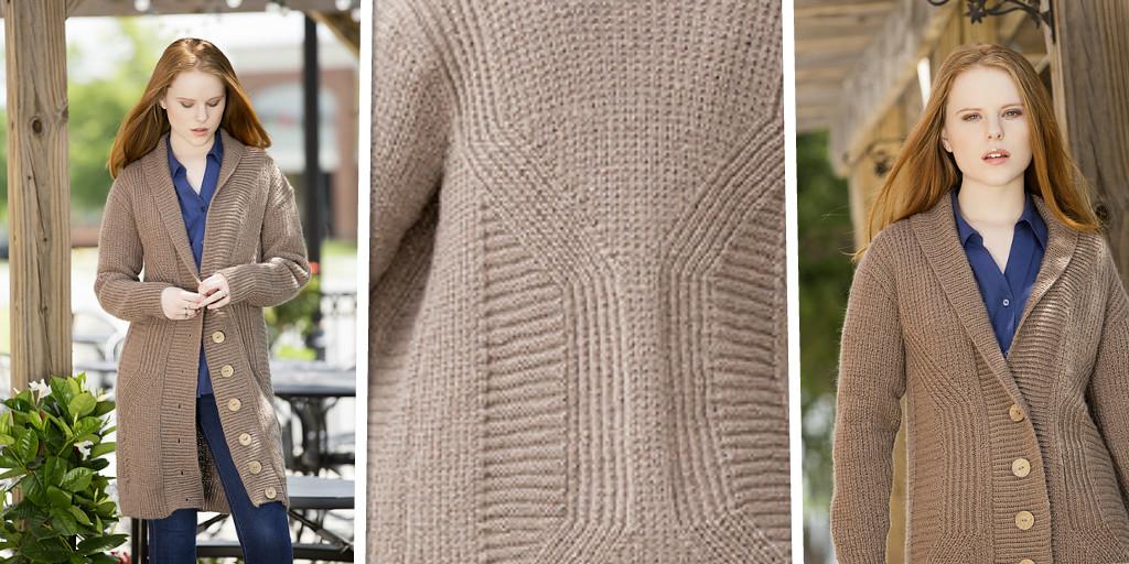 Кардиган для молодой женщины вязание
