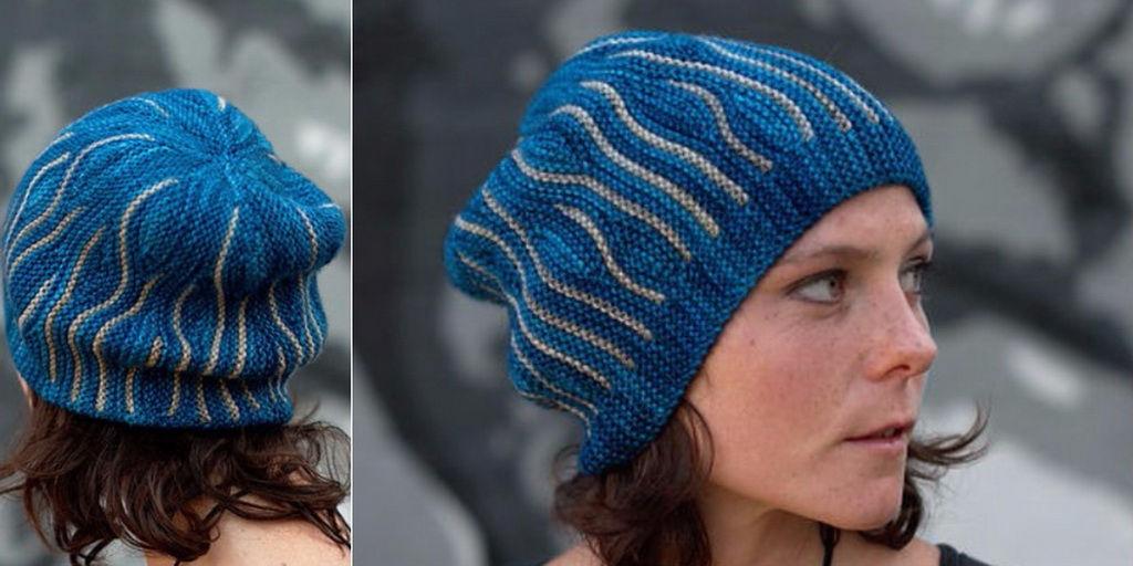 7f370f16392a Красивая теплая шапка, вязаная спицами поперек. Обсуждение на ...