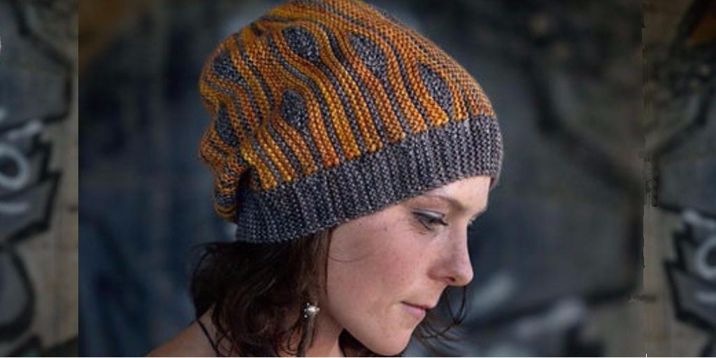 шапка платочной вязкой Korra вяжиру